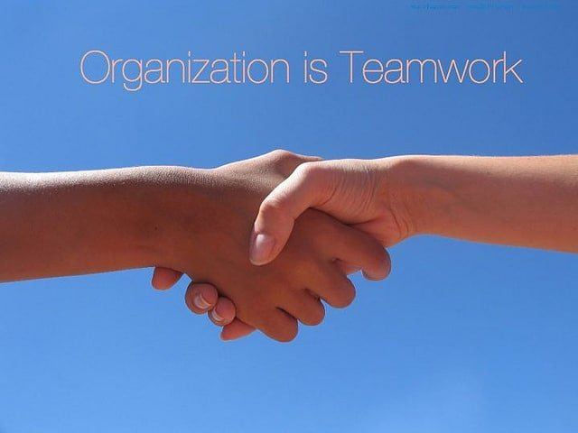 Organization is teamwork